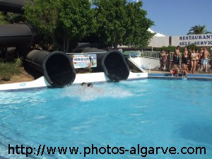 Black hole Slide and Splash